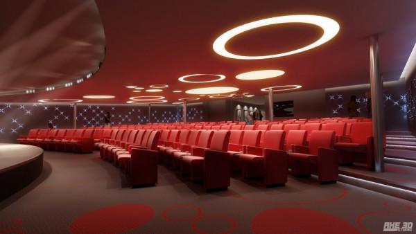 Intérieurs - Salle de cinéma